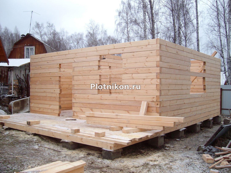 Ютуб строим дом из бруса своими руками