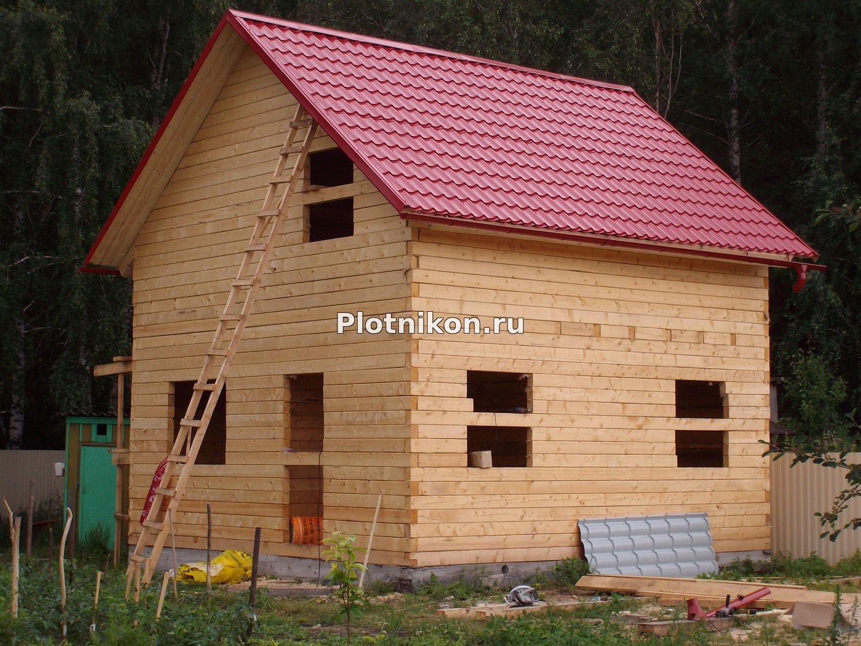 Как построить дом из бруса 6 на 7
